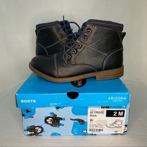 """Kid's """"AZ Cruise"""" Boots in Black with Denim Accent"""